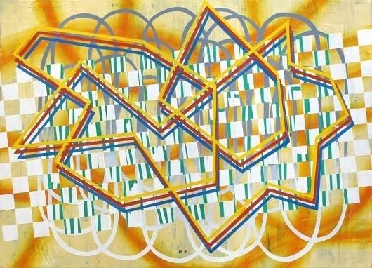 Dan Bina, 42nd Street Scuffle #acrylic #abstract #bina #dan #grid #painting #art