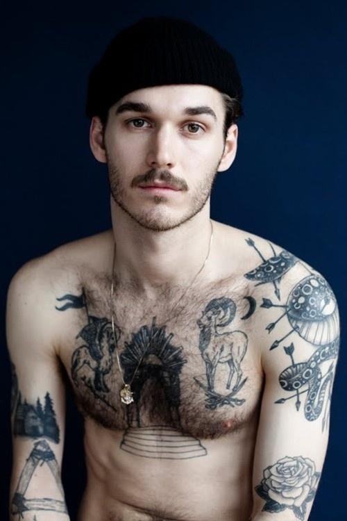 Moustache Portrait #tattos #portrait #moustache