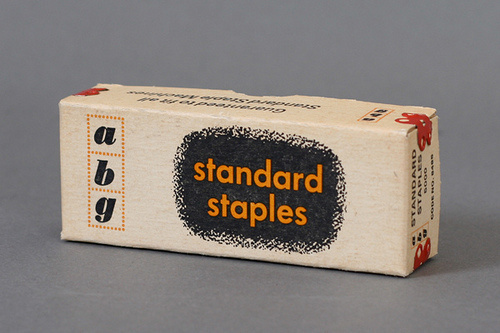 ABG Standard Staples Packaging #modern #packaging #color #texture #two #mid #vintage #century #typography