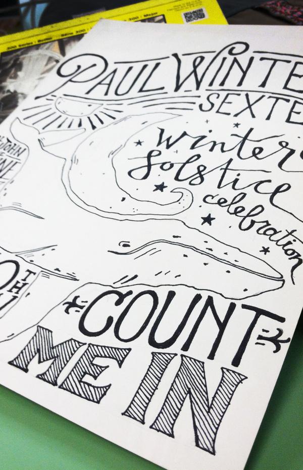 Paul Winter Sextet Winter Solstice T-Shirt #illustration #lettering #typography