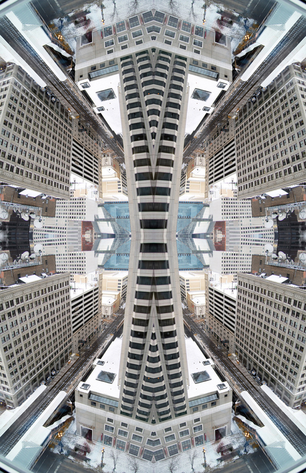 Kaleidoscopic View Of Chicago on Behance #kaleidoscope #chicago
