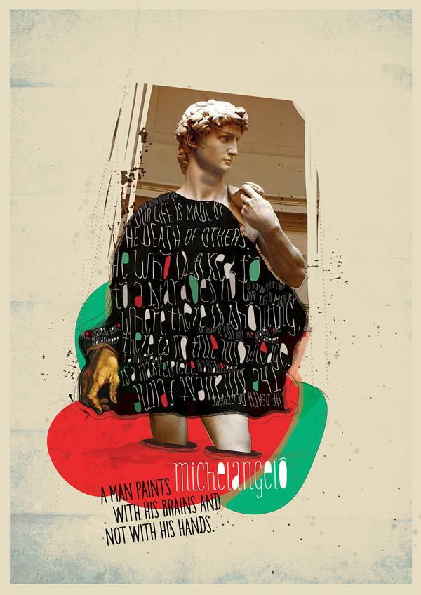 ART MOVEMENTS - COLLAGE #design #graphic #paint #illustration #art #collage #italy