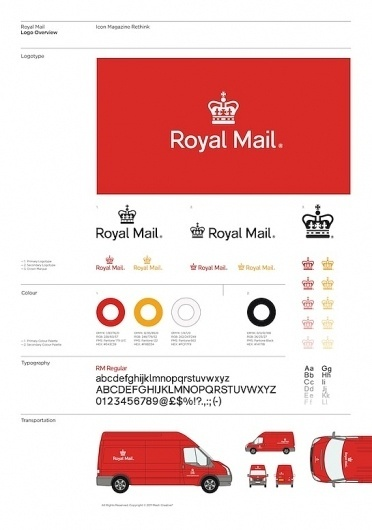 Mash Creative 'Rethink' of the Royal Mail logo for ICON magazine | Swiss Legacy #creative #swiss #royal #legacy #mash #mail