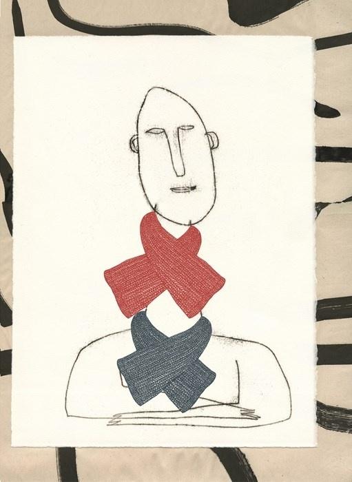 Objets Hermès A/W15 Illustration by Serge Bloch
