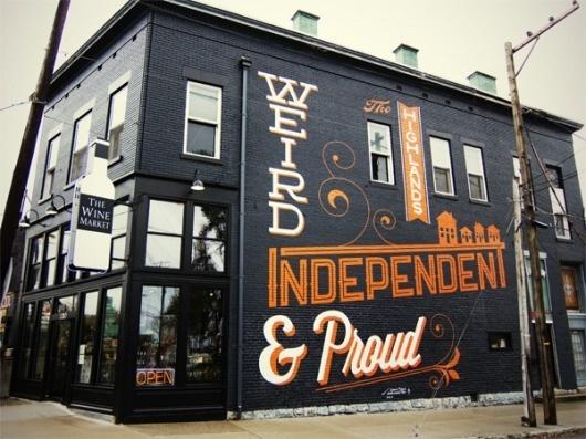 Bryan Patrick Todd - Design & Illustration - Blog #mural #design #orange #black #typography