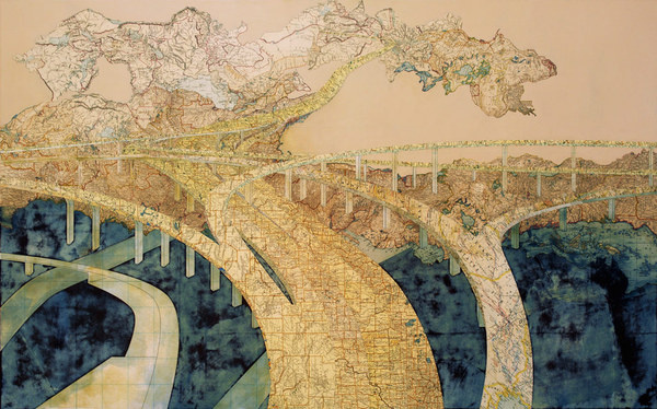 Chasing the Dragon, 2006 #map #collage