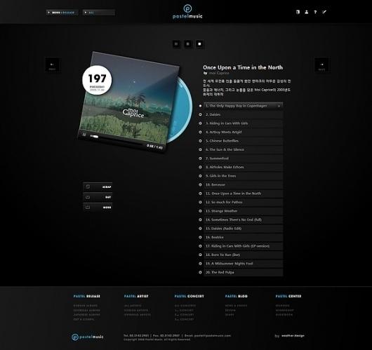 Pastel Music Website on Web Design Served #vbnvbn