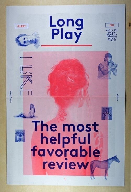 Long PlayNewspaper, 2013Design: Gluekit #layout #typography