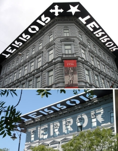typography-architecture-house-of-terror.jpg (JPEG Image, 468×600 pixels) #design #environmental #architecture #type #typography