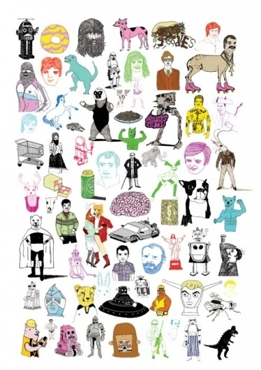 Characters Page by Rich Fairhead | Society6 #handmade #illustration #drawing #funny
