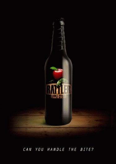 Rattler Cider on the Behance Network #white #bottle #design #eden #snow #cider #eve #adam #and #rattler #witton
