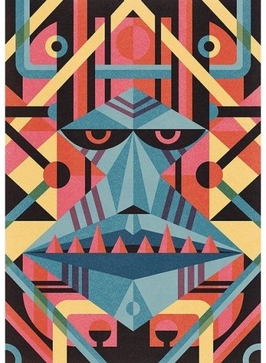 grain edit · modern graphic design inspiration blog + vintage graphics resource #illustration #mask #geometric