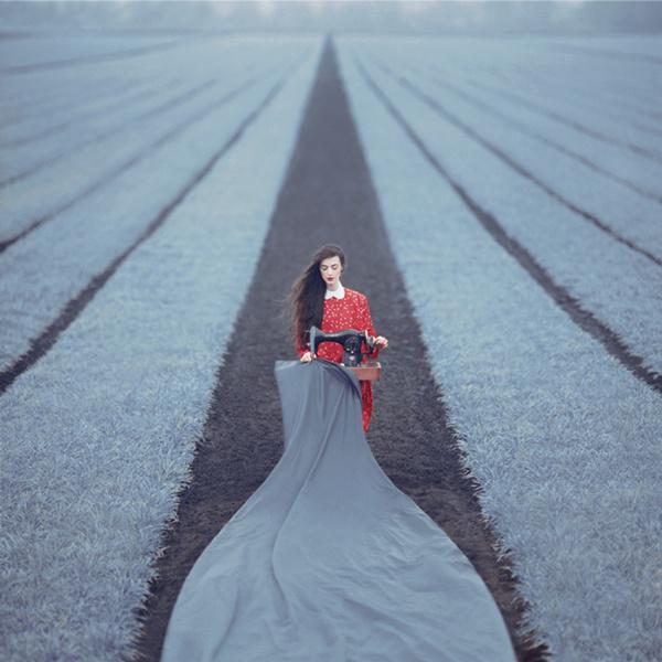 Oleg Oprisco's Stylized Photography Indulges the Fantasy of Escape | Hi-Fructose Magazine #stylish #field #red #escape #photography #grey