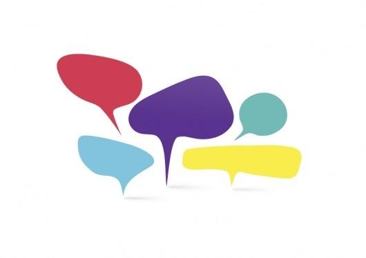 simple conversations * : welcom to La La Land #bubble #vector #colour