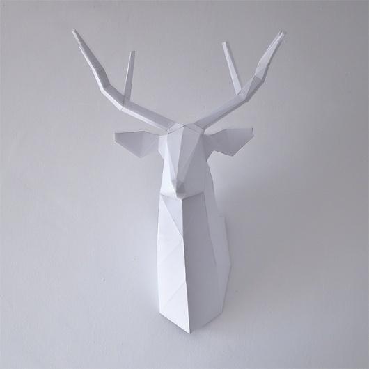 DEER on the Behance Network #deer #wall #paper #crash