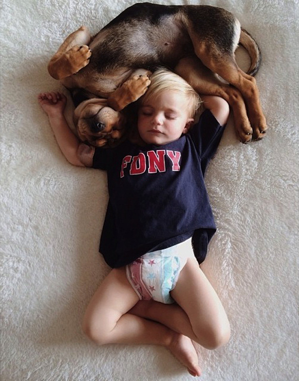 A Naptime Story with Dog and Baby 7 #photography #baby #dog
