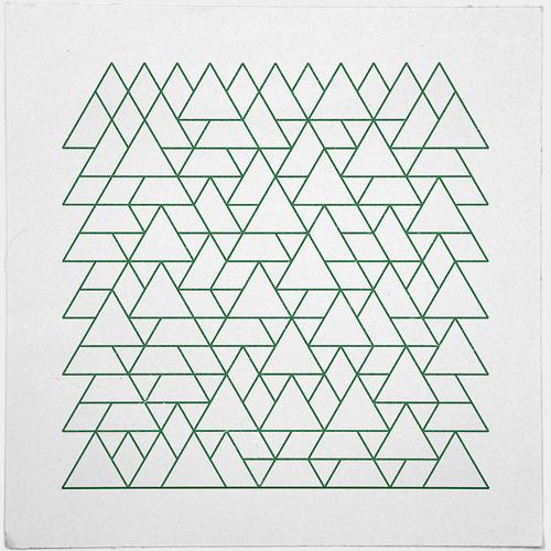 #264 Mountain range – A new minimal geometric composition each day