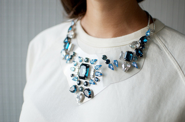 diy Shourouk inspired necklace final 2 #jewels #diy #studded #necklace