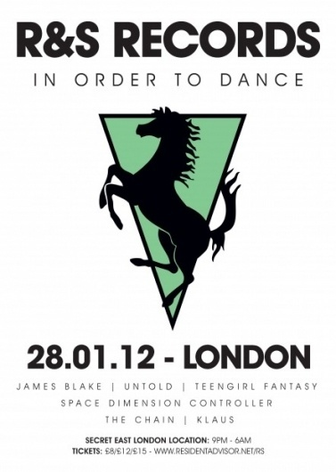 Warehouse Party – London ◊ R&S Records #logo #illustration #kiosk #poster