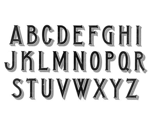 sonoma-alphabet.png 600×500 pixels #hische #jessica #vintage #type #typography