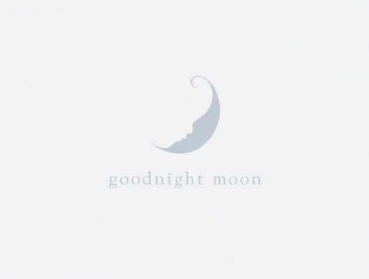 anchalee.me #mark #negative #space #goodnight #logo #baby #moon
