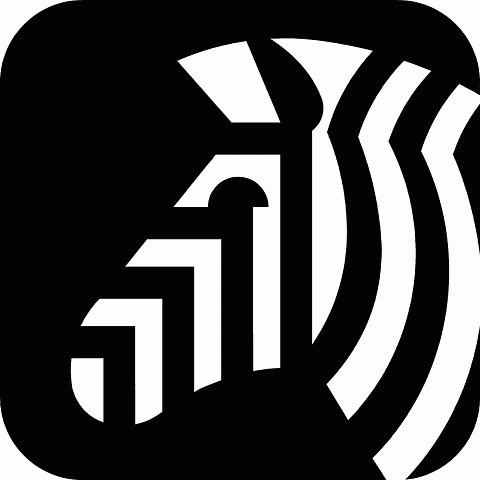 FFFFOUND! | wyman_natzoozebra_06.gif 1000×1000 pixels #icon #blackwhite #zebra