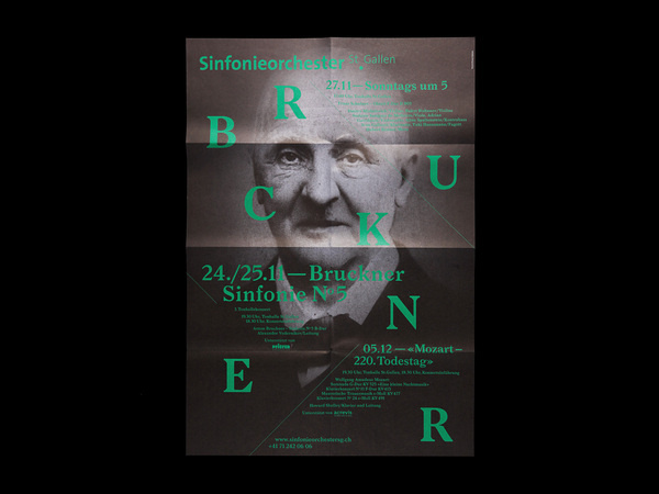Bureau Collective – Sinfonieorchester St.Gallen #print #design #graphic #photography #typography