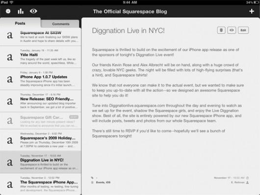 iPad - Squarespace #interface