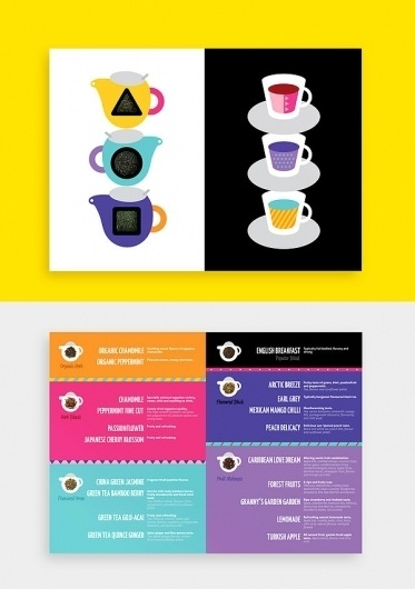 Winter Tea Menu on the Behance Network #vector #pattern #menu #color #bold #illustration #shape #minimal