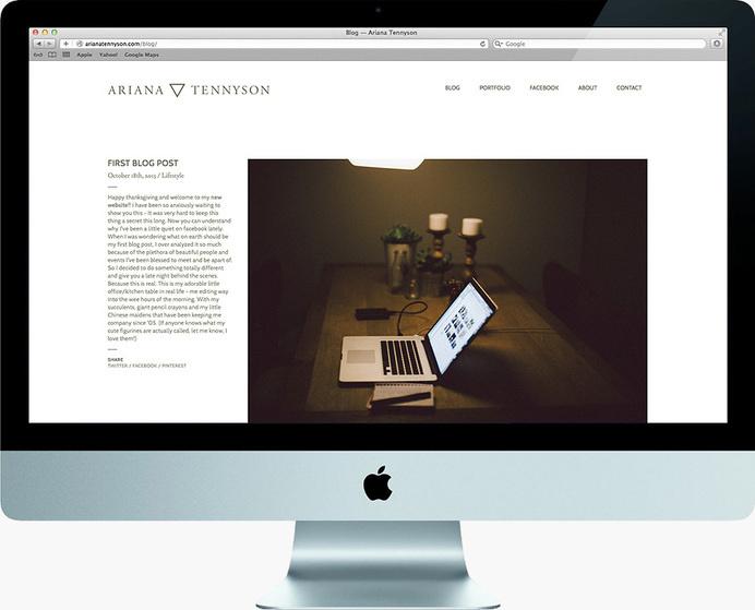 Ariana Tennyson web site #design #web #minimal #photographer