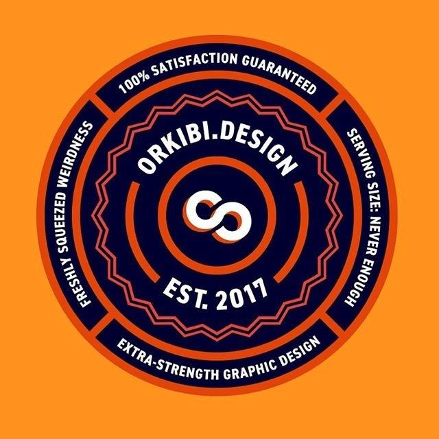 I made a sticker to stick on stuff. #thicklines #circles #iamadesigner #extrastrength #designstuff #stickers #orange #identitydesign