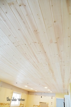 Wood Plank Ceiling or wall #diy