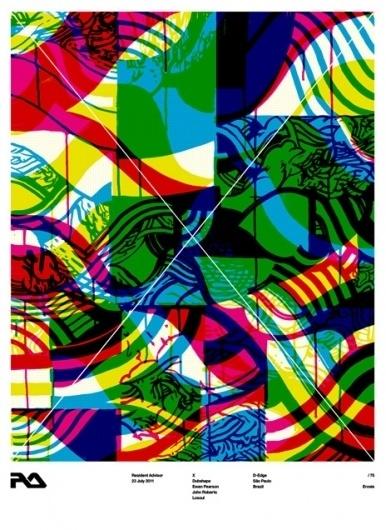 RA: RA X at D-Edge Club, Brazil #silkscreen #posters