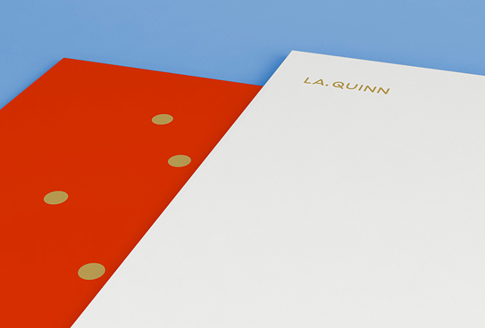 LA Quinn by Sam Mearns #logo #paper