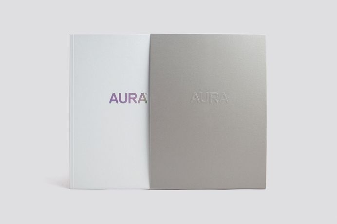 Lorient — AURA identity and print #cover #print #jacket #editorial