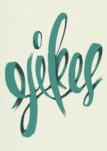 Typeverything.com Yikes poster by Michael... - Typeverything #calligraphy #retro #brush