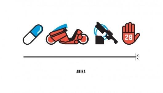 The Four Icon Challenge | Kyle Tezak #tezak #kyle #bold #icons #minimalism #akira