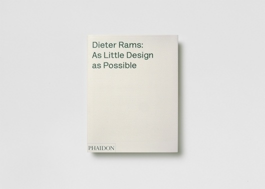 Dieter Rams: As Little Design as Possible – SI: Special | September Industry #print #design #book #rams #dieter