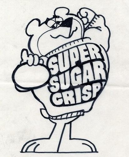Sugar Bear concept art | Flickr - Photo Sharing! #crisp #illustration #vintage #sugar