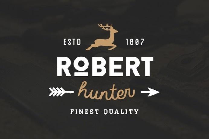 Robert Hunter #inspiration #deer #badge #hunter #design #retro #vintage #logo