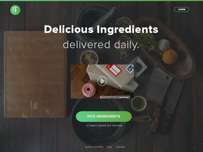 Food Delivery | UI Web Design #design #web #food #ui