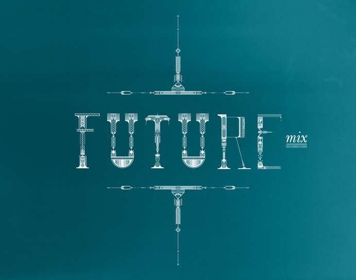 Future Mix, Santa Fe, NM- Futuristic Navajo typographical exploration