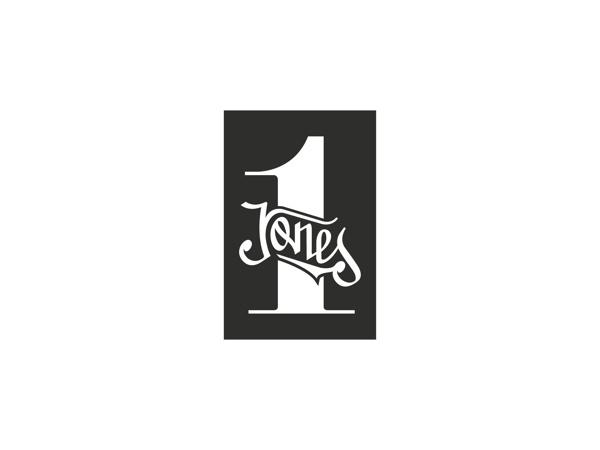 LOGOS #calligraphy #old #jones #white #black #logo #typography