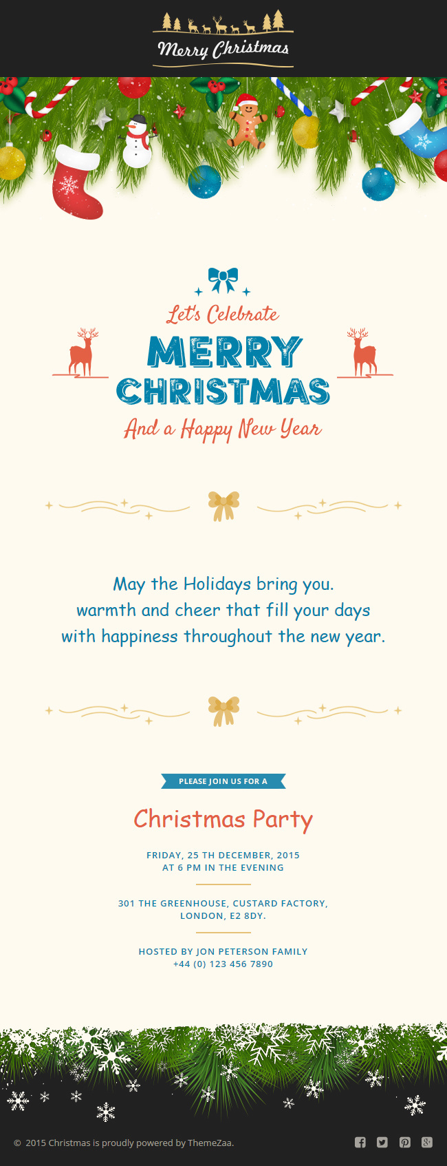 #Christmas #Responsive #Email Template with Online #Builder for Christmas #Wish http://goo.gl/f3Dnmt