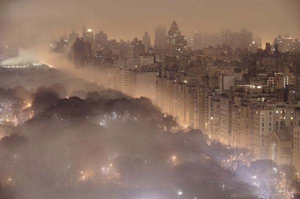 Nature_meets_new_york.jpg (JPEG Image, 1200×798 pixels) #fog #city #lights #park #night #central #york #nyc #forest #new