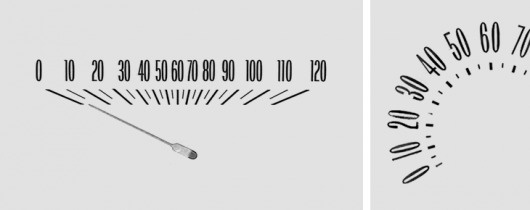The Ministry of Type #numbers #speedometer #retro #typography