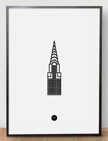 Image of Chrysler Riso Print White #risograph #print #chrysler #poster