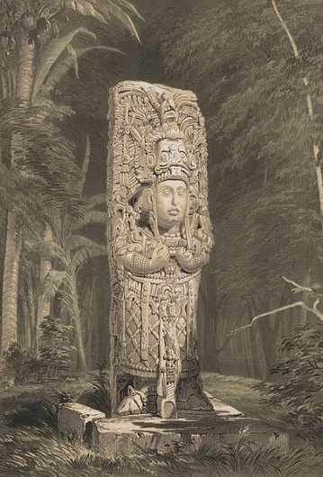 File:Catherwood stela d.jpg - Wikipedia, the free encyclopedia #stone #rainforest #catherwood #lithograph #statue #frederick