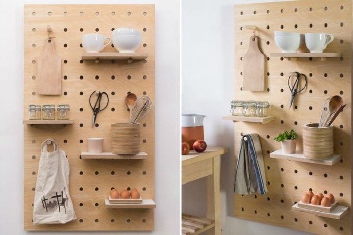 The Peg-It-All is a #simple and #customizable #storage shelf! It's a #classic yet #minimalistic accent to the #modern #home.