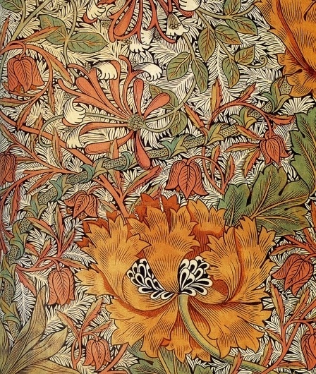 william+morris-1876-honeysuckle,+printed+I+4.jpg (771×911) #printed #morris #william #design #illustration #textile #flowers